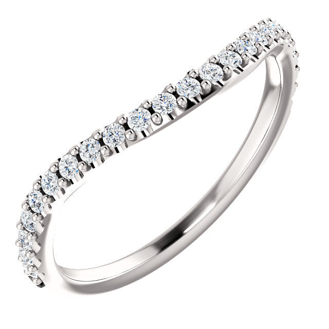 Cubic Zirconia Anniversary Ring Band, Style 122-14 (Alisa Matching Band)