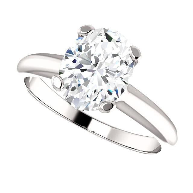 *Clearance* Cubic Zirconia Engagement Ring- The Kathleen (2.50 Carat Oval Cut Solitaire in Sterling Silver)