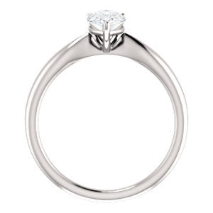 Cubic Zirconia Engagement Ring- The Nyah (Customizable Pear Cut Solitaire with Tapered Bevel Band)