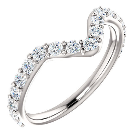 Cubic Zirconia Anniversary Ring Band, Style 122-189 (Chandita Matching Band)