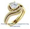 Cubic Zirconia Engagement Ring- The Annalisa (Customizable Cushion Cut Bypass with Twisting Pavé Band)