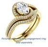 Cubic Zirconia Engagement Ring- The Annalisa (Customizable Oval Cut Bypass with Twisting Pavé Band)