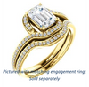 Cubic Zirconia Engagement Ring- The Annalisa (Customizable Radiant Cut Bypass with Twisting Pavé Band)