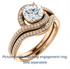 Cubic Zirconia Engagement Ring- The Annalisa (Customizable Round Cut Bypass with Twisting Pavé Band)