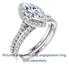 Cubic Zirconia Engagement Ring- The Bailey (Customizable Cathedral-set Marquise Cut Design with Halo, Thin Pavé Band and Floating Peekaboo)