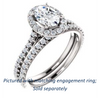 Cubic Zirconia Engagement Ring- The Bailey (Customizable Cathedral-set Oval Cut Design with Halo, Thin Pavé Band and Floating Peekaboo)