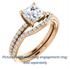 Cubic Zirconia Engagement Ring- The Blaire (Customizable Asscher Cut with Petite Pavé Band)