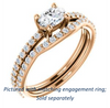 Cubic Zirconia Engagement Ring- The Blaire (Customizable Oval Cut with Petite Pavé Band)