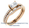 Cubic Zirconia Engagement Ring- The Blaire (Customizable Radiant Cut with Petite Pavé Band)