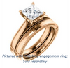 Cubic Zirconia Engagement Ring- The Britney (Customizable Princess Cut Decorative-Pronged Cathedral Solitaire with Fine Milgrain Band)