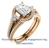 Cubic Zirconia Engagement Ring- The Candie (Customizable Emerald Cut with Artisan Bypass Pavé and 7-stone Cluster)