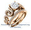 Cubic Zirconia Engagement Ring- The Carla (Customizable Asscher Cut Split-Band Curves)