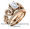 Cubic Zirconia Engagement Ring- The Carla (Customizable Emerald Cut Split-Band Curves)