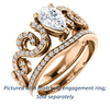 Cubic Zirconia Engagement Ring- The Carla (Customizable Pear Cut Split-Band Curves)