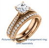 Cubic Zirconia Engagement Ring- The Claudia Jeanine (Customizable Asscher Cut Three Sided Band)