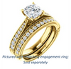 Cubic Zirconia Engagement Ring- The Claudia Jeanine (Customizable Cushion Cut Three Sided Band)