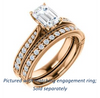 Cubic Zirconia Engagement Ring- The Claudia Jeanine (Customizable Emerald Cut Three Sided Band)