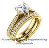 Cubic Zirconia Engagement Ring- The Claudia Jeanine (Customizable Heart Cut Three Sided Band)