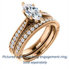 Cubic Zirconia Engagement Ring- The Claudia Jeanine (Customizable Marquise Cut Three Sided Band)