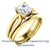 Cubic Zirconia Engagement Ring- The Jan (Customizable Asscher Cut Thick-Split Band Solitaire)