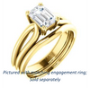 Cubic Zirconia Engagement Ring- The Jan (Customizable Radiant Cut Thick-Split Band Solitaire)