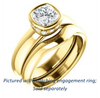Cubic Zirconia Engagement Ring- The Jilari (Customizable Bezel-set Cushion Cut with Under-Halo)