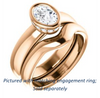 Cubic Zirconia Engagement Ring- The Jilari (Customizable Bezel-set Oval Cut with Under-Halo)