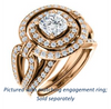 Cubic Zirconia Engagement Ring- The Jill (Cushion Cut Double Halo with Ultrawide Split-Pavé Band)