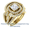 Cubic Zirconia Engagement Ring- The Jill (Princess Cut Double Halo with Ultrawide Split-Pavé Band)