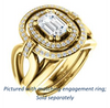 Cubic Zirconia Engagement Ring- The Kandie Lue (Customizable Cathedral-set Emerald Cut with 2x Halo and Prong Accents)