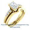 Cubic Zirconia Engagement Ring- The Karyn (Customizable 7-stone Emerald Cut style with Tapered Band & Round Prong-set Accents)