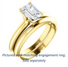 Cubic Zirconia Engagement Ring- The Kathleen (Customizable Emerald Cut Solitaire)