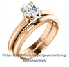 Cubic Zirconia Engagement Ring- The Kathleen (Customizable Oval Cut Solitaire)