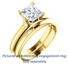 Cubic Zirconia Engagement Ring- The Kathleen (Customizable Princess Cut Solitaire)
