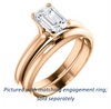 Cubic Zirconia Engagement Ring- The Kathleen (Customizable Radiant Cut Solitaire)
