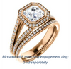 Cubic Zirconia Engagement Ring- The Kay Adaira (Customizable Bezel-set Asscher Cut with Halo and Split-Pavé Band)
