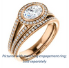 Cubic Zirconia Engagement Ring- The Kay Adaira (Customizable Bezel-set Oval Cut with Halo and Split-Pavé Band)
