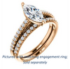 Cubic Zirconia Engagement Ring- The Kiana (Customizable Marquise Cut Design with Decorative Cathedral Trellis and Thin Pavé Band)