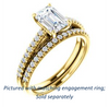 Cubic Zirconia Engagement Ring- The Kiana (Customizable Radiant Cut Design with Decorative Cathedral Trellis and Thin Pavé Band)