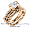 Cubic Zirconia Engagement Ring- The Kinsley (Customizable Cushion Cut with Split Pavé Band & Peekaboo Accents)