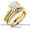 Cubic Zirconia Engagement Ring- The Kinsley (Customizable Emerald Cut with Split Pavé Band & Peekaboo Accents)