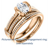 Cubic Zirconia Engagement Ring- The Kinsley (Customizable Oval Cut with Split Pavé Band & Peekaboo Accents)