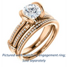 Cubic Zirconia Engagement Ring- The Kinsley (Customizable Round Cut with Split Pavé Band & Peekaboo Accents)