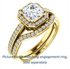 Cubic Zirconia Engagement Ring- The Kira (Customizable Cathedral-Halo Asscher Cut Design with Thin Pavé Band)