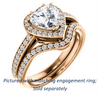 Cubic Zirconia Engagement Ring- The Kira (Customizable Cathedral-Halo Heart Cut Design with Thin Pavé Band)