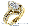 Cubic Zirconia Engagement Ring- The Kira (Customizable Cathedral-Halo Marquise Cut Design with Thin Pavé Band)