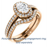 Cubic Zirconia Engagement Ring- The Kira (Customizable Cathedral-Halo Oval Cut Design with Thin Pavé Band)