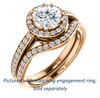 Cubic Zirconia Engagement Ring- The Kira (Customizable Cathedral-Halo Round Cut Design with Thin Pavé Band)