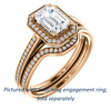 Cubic Zirconia Engagement Ring- The Laila Jean (Customizable Cathedral-set Radiant Cut with Halo and Thin Pavé Band)
