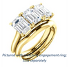 Cubic Zirconia Engagement Ring- The Londyn (Customizable Triple Emerald Cut 3-stone Style)